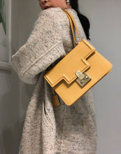 Load image into Gallery viewer, Mustard Yellow Leather Bag (4447633834102)