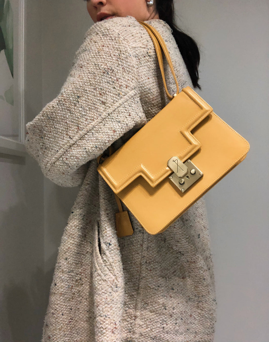 Mustard Yellow Leather Bag (4447633834102)
