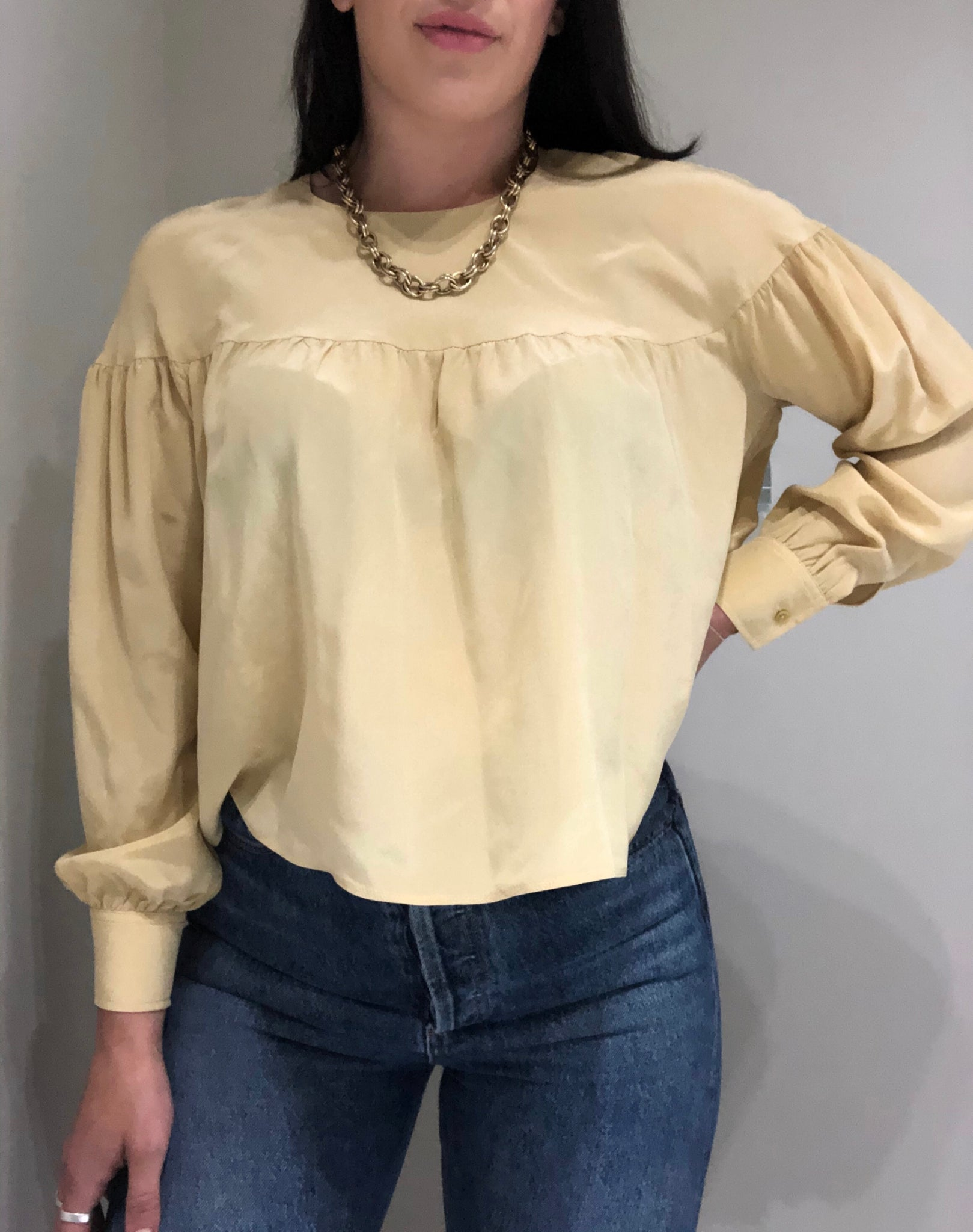 Yellow Silk Shirt