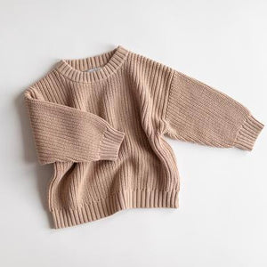Chunky Knit Sweater in Pink Earth