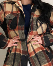 Load image into Gallery viewer, Sherpa Lined Flannel Jacket