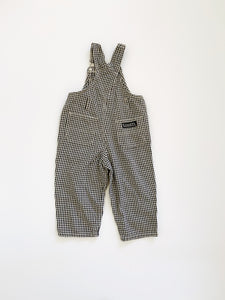 Gingham Overalls size 3-4 years