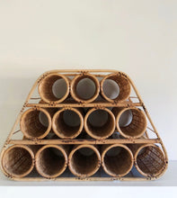 Load image into Gallery viewer, Wicker Wine Rack