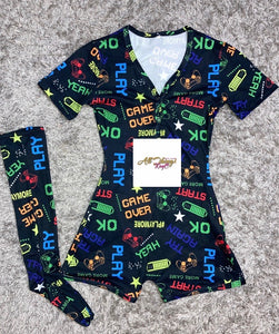 Game Over Shorts Onesie