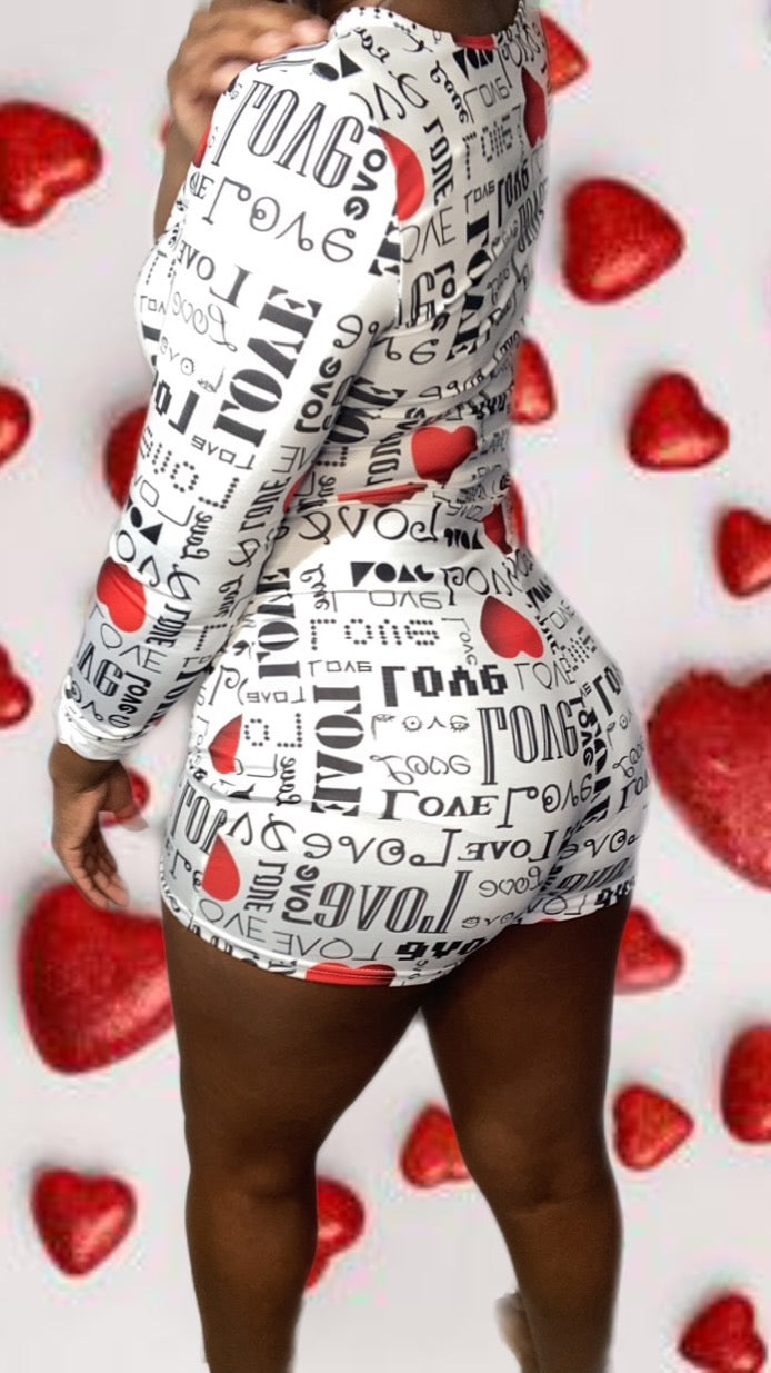 Love ❤️ Shorts Onesie