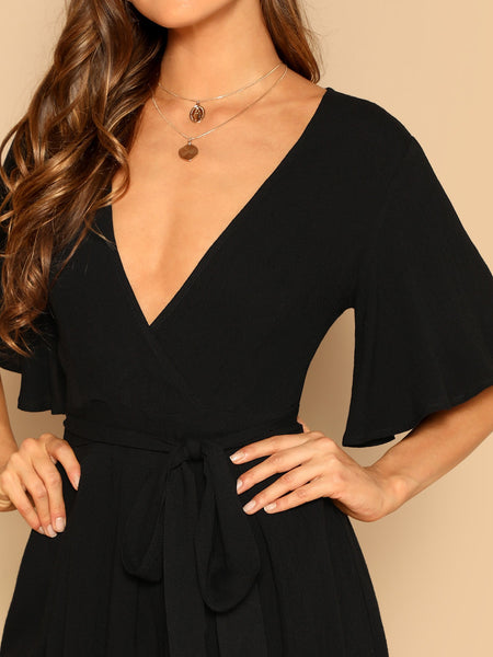 Belted Romper - hashtag