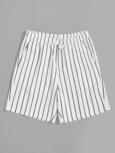 Textured Pinstripe Shorts