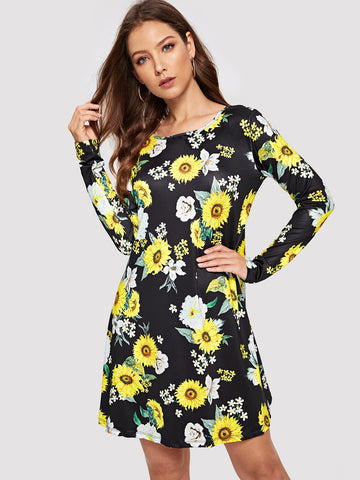 Sunflower Fit & Flare Dress