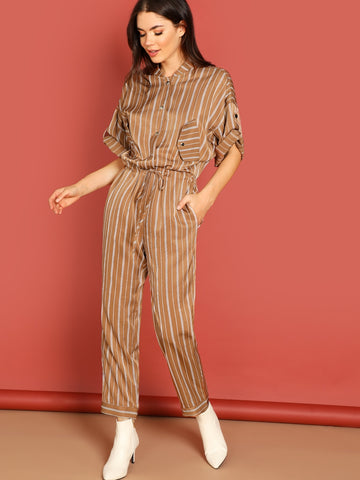 Button Up Jumpsuit - hashtag