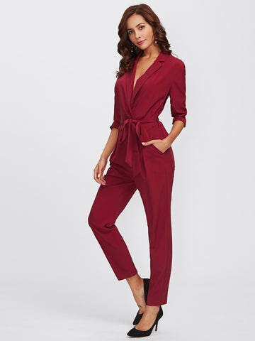 Wrap And Tie Jumpsuit