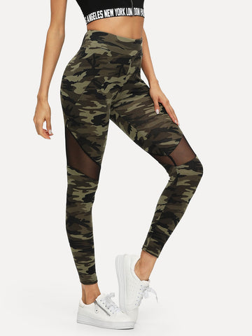 Active Camo Print Leggings - hashtag