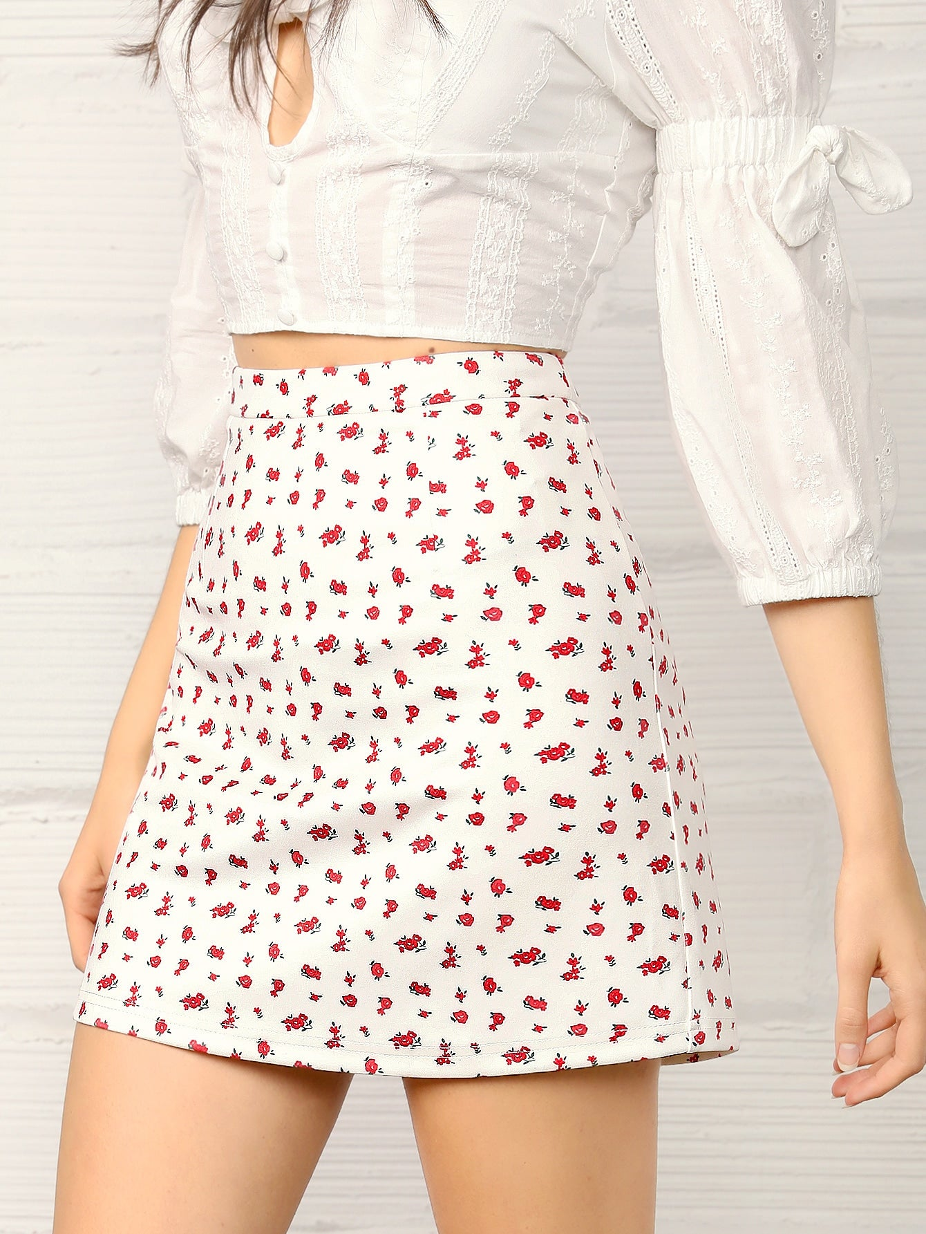 Wide Band Waist Skirt