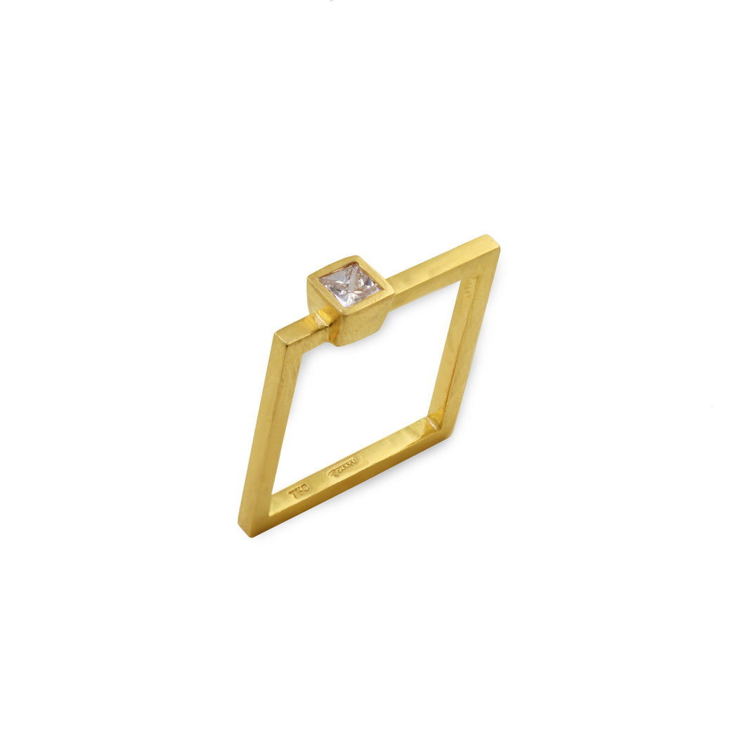1441 h. square diamond ring