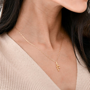 f initial necklace