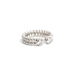 Jadela White Gold Ring with Diamonds
