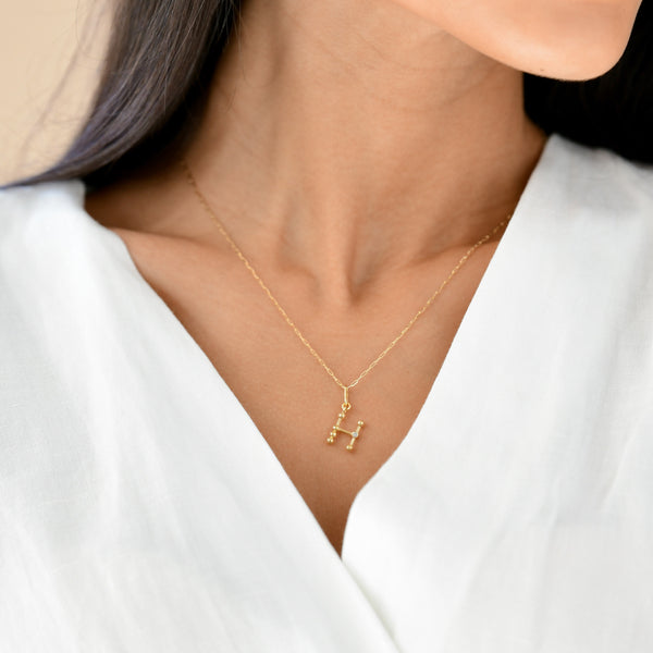 h initial necklace