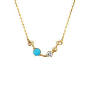 falak half moon necklace