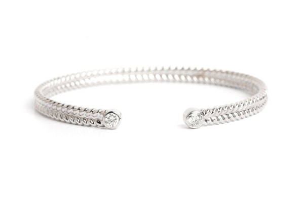 JEDELA WHITE GOLD BRACELET WITH DIAMONDS