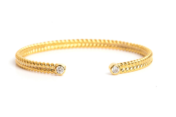 jadela yellow gold bracelet with diamonds
