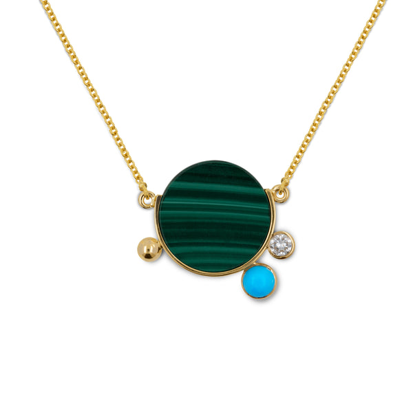 falak malachite necklace