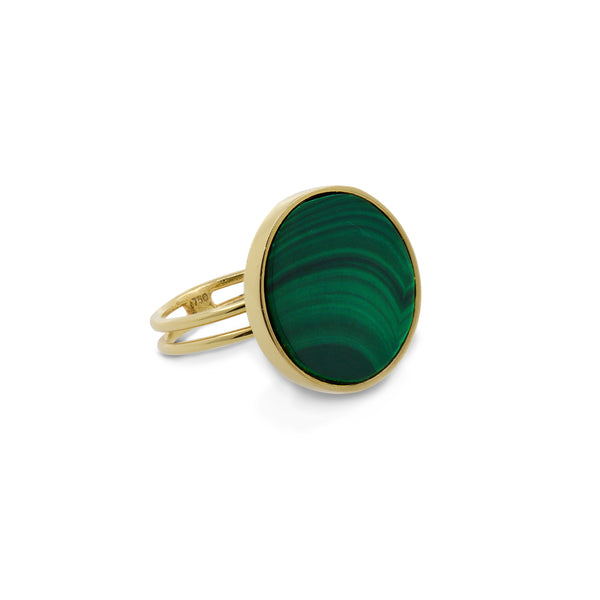falak round malachite ring