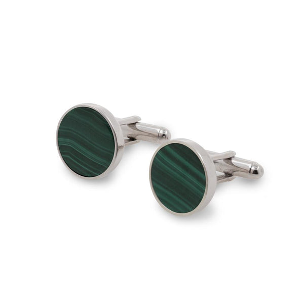 falak men's malachite cufflinks