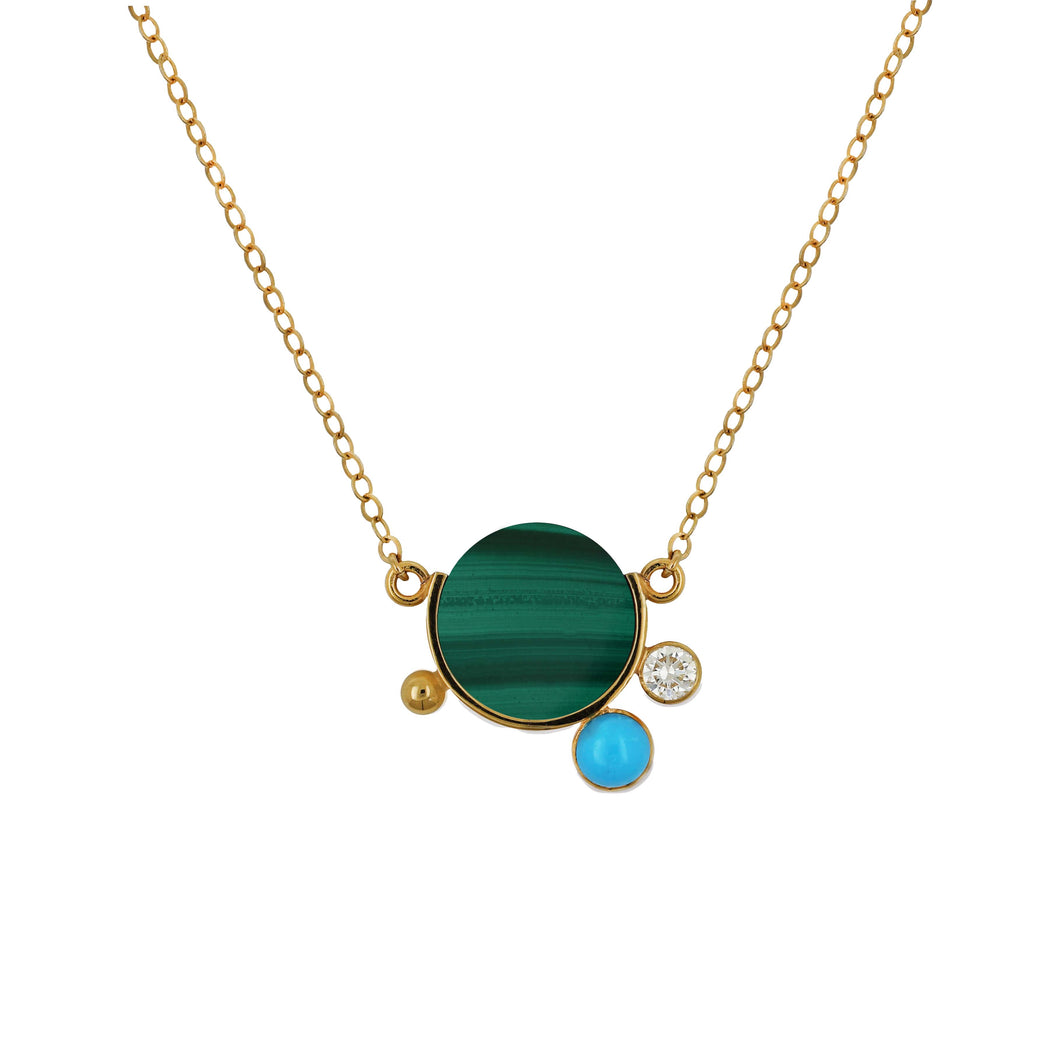 FALAK MINI MALACHITE NECKLACE  | PREORDER