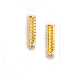 Jadela Yellow Gold Earrings with Diamonds