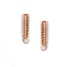Jadela Rose Gold Earrings with Diamonds
