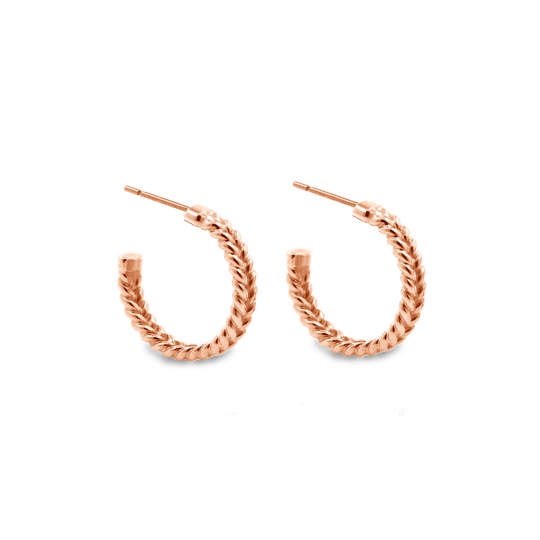 jadela rose gold hoop earrings