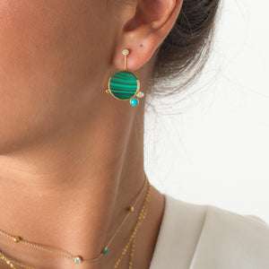 Falak Malachite Earrings
