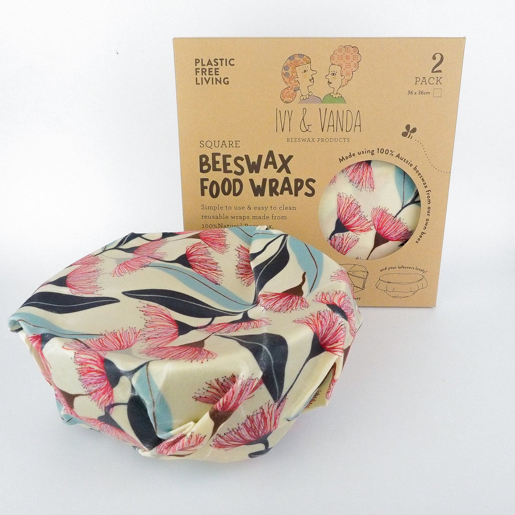 Large Square Beeswax Wrap x2 - Ivy & Vanda
