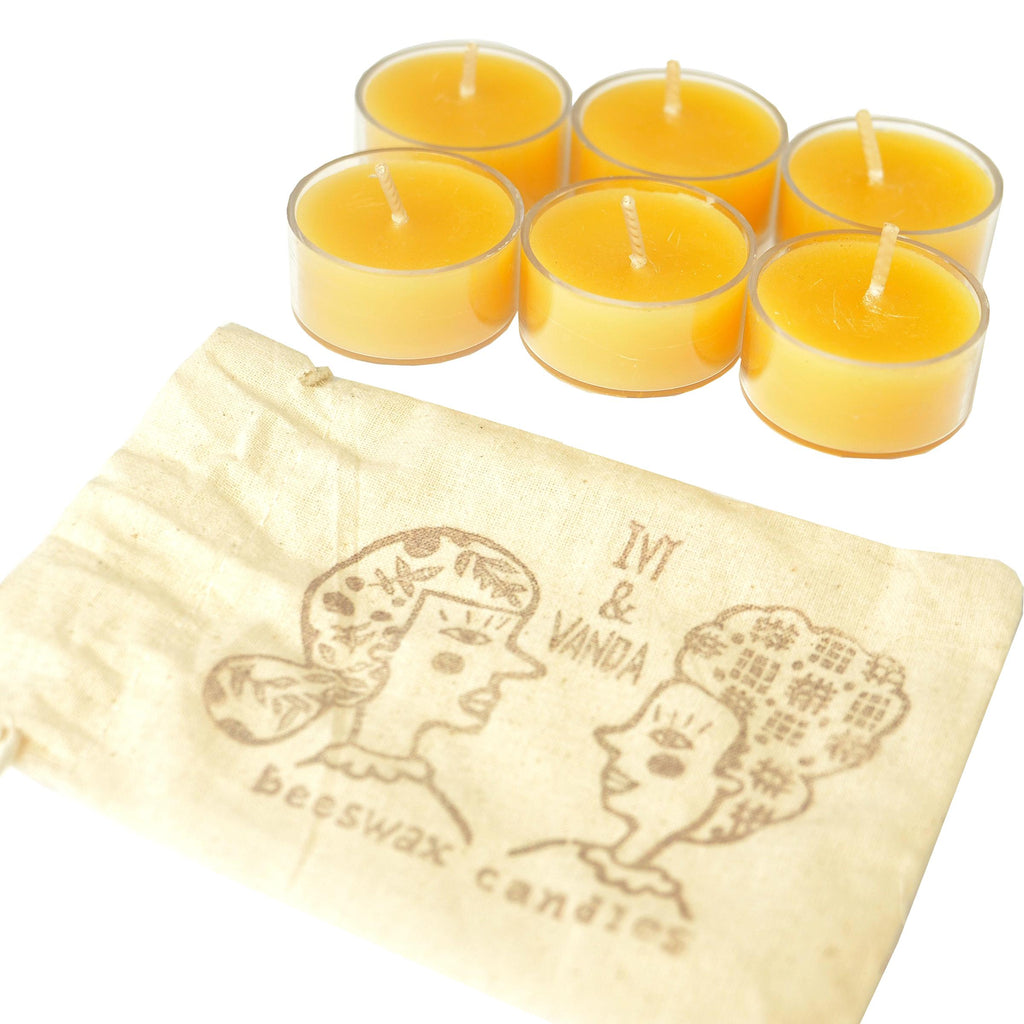 Tealights (Bag of Six) - Ivy & Vanda-Beeswax Candle- Walkabout Apiaries