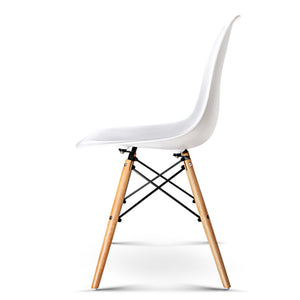 Strange Set Of 4 Replica Eames Dining Chair White Pdpeps Interior Chair Design Pdpepsorg