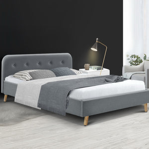POLA Double Bed Frame- Grey