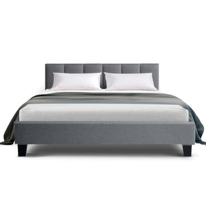 ANNA Double Bed Frame- Grey