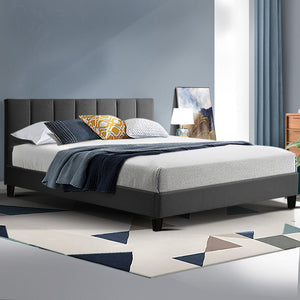 ANNA Queen Bed Frame- Charcoal
