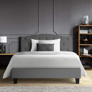 LARS King Single Bed Frame- Grey