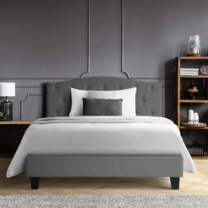 LARS Single Bed Frame- Grey