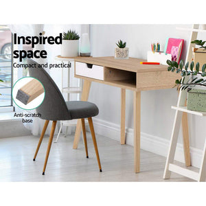 Scandi Wood Computer Desk - KOTi HOME