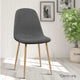 Set of 4 Adamas Dining Chairs - Dark Grey - KOTi HOME