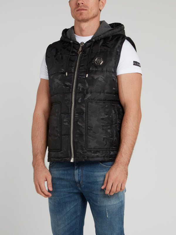 Camo Star Quilted Gilet