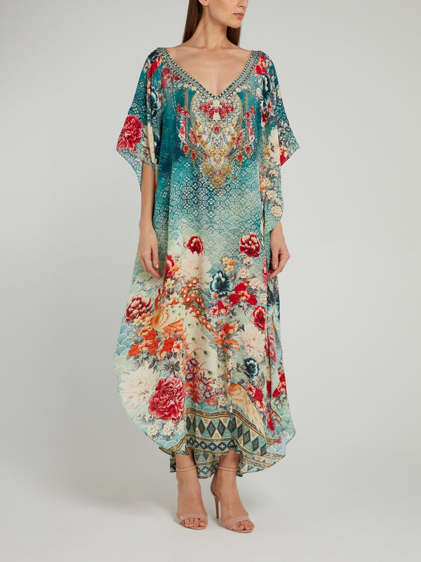 V-Neck Long Kaftan