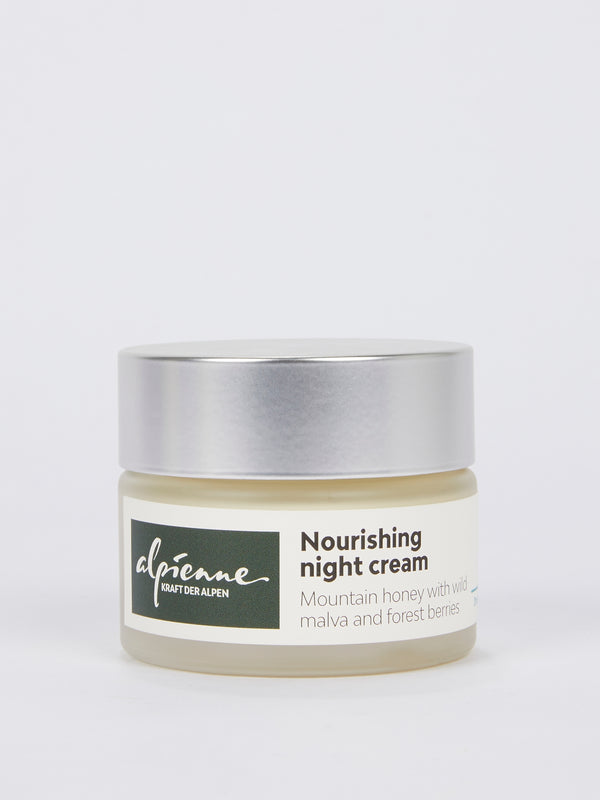 Nourishing Night Cream: Mountain Honey with Wild Malva and Forest Berries for Dry and Normal Skin