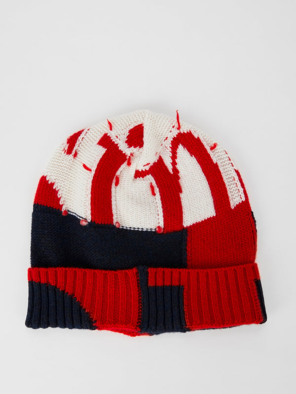 Colour Block Knitted Cap