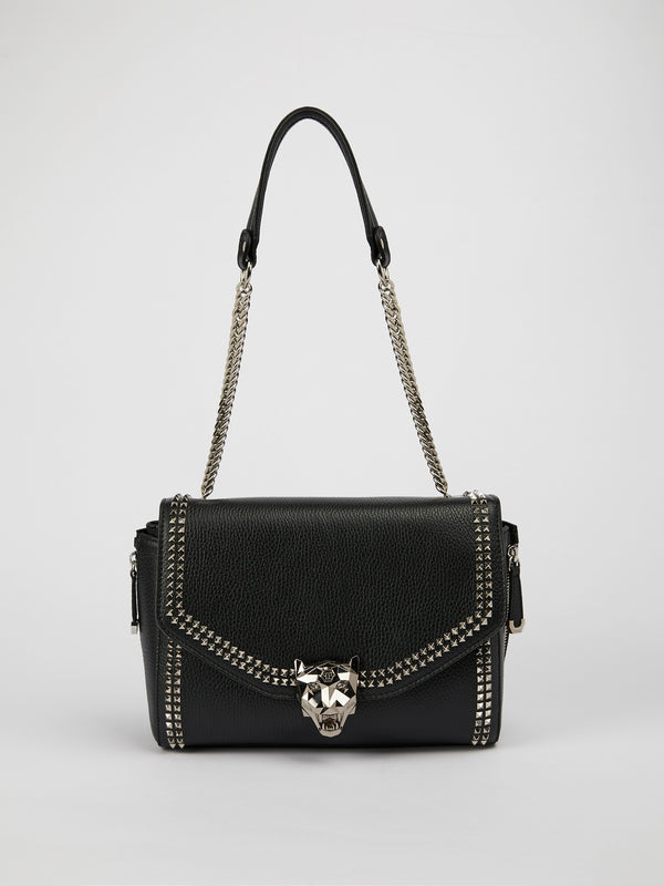 Ajisai Tiger Head Embellished Shoulder Bag