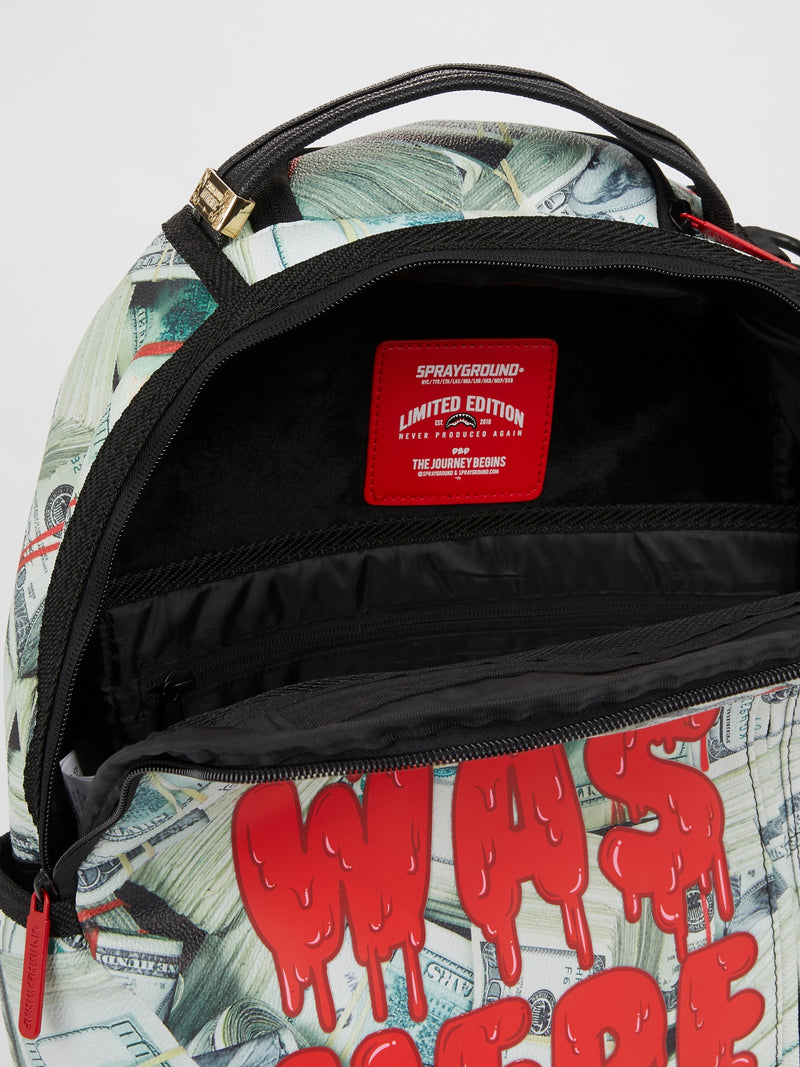 Statement Blood On Money Roll Backpack