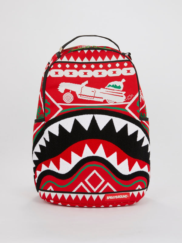 Ugly Sweater Shark Backpack