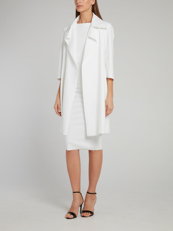 Saveria White Trench Coat