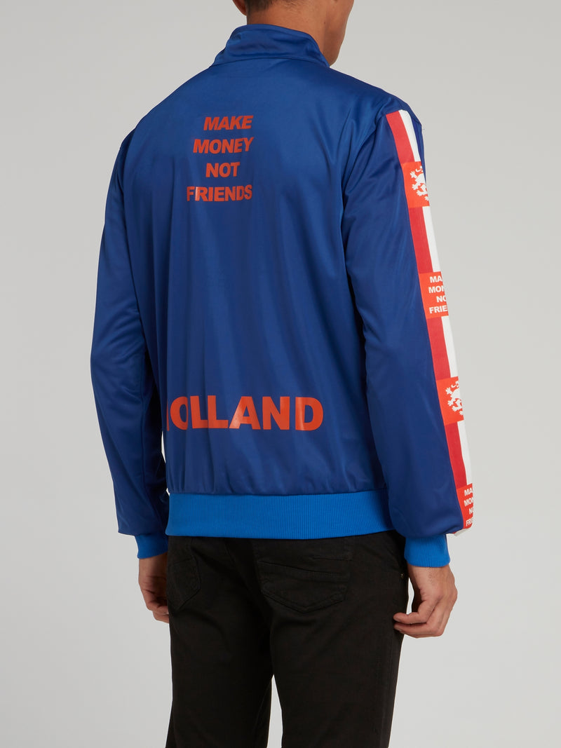 Blue Holland Crest Acetate Sweatshirt